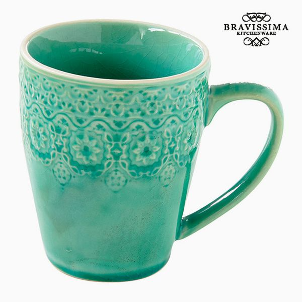 Cup Porcelain Green by Bravissima Kitchen