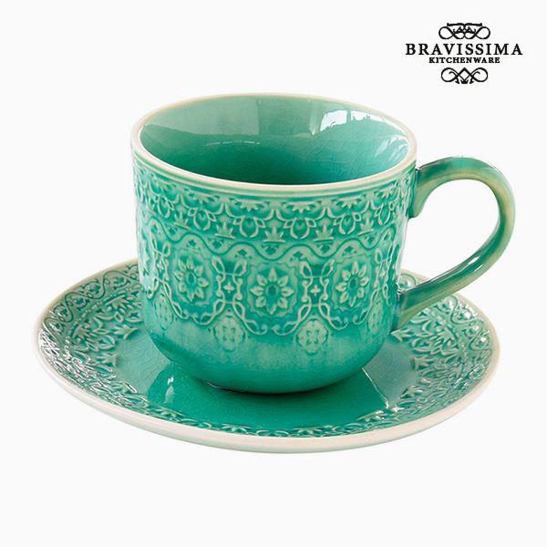 Teacup Porcelain Green by Bravissima Kitchen