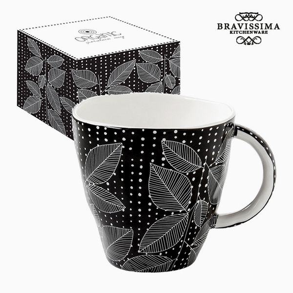 Cup with Box Porcelain Black by Bravissima Kitchen