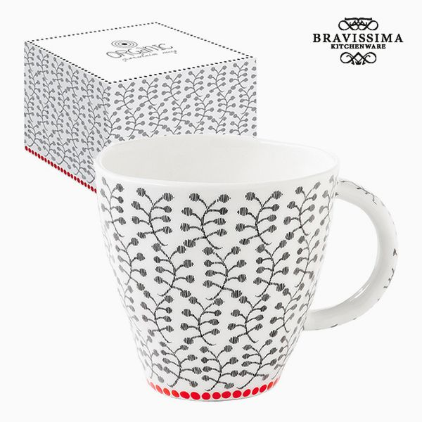 Cup with Box Porcelain Flowers by Bravissima Kitchen