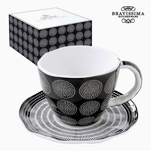 Teacup Porcelain Black by Bravissima Kitchen