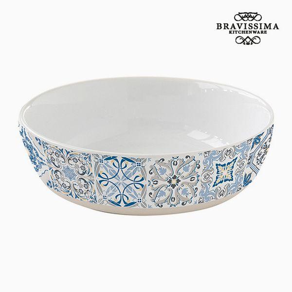 Deep Plate Porcelain Blue by Bravissima Kitchen