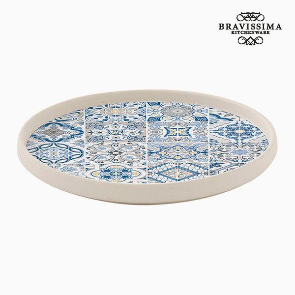 Plate Porcelain Blue by Bravissima Kitchen