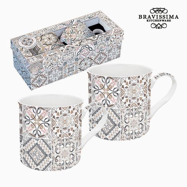 Set of Mugs Porcelain Grey (2 pcs) by Bravissima Kitchen