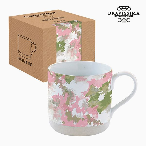 Cup with Box Porcelain Camouflage Pink by Bravissima Kitchen