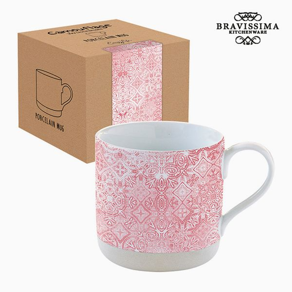 Cup with Box Porcelain Mosaic Pink by Bravissima Kitchen