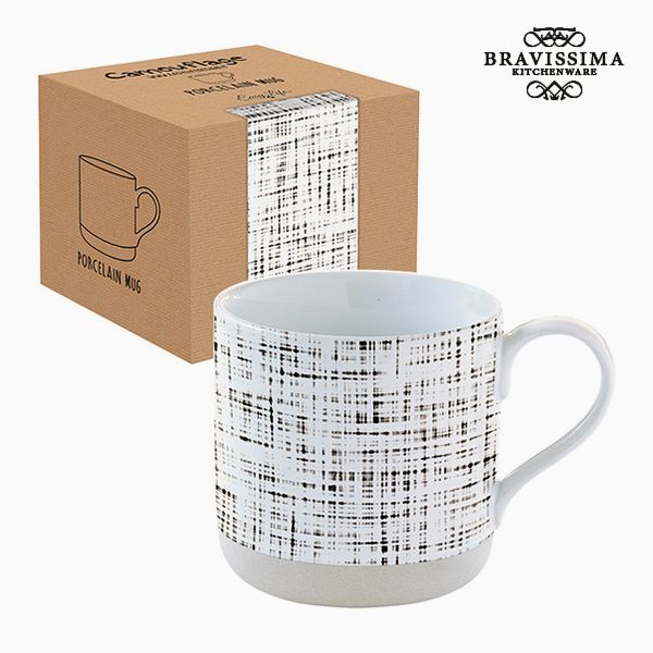 Cup with Box Porcelain Stripes by Bravissima Kitchen