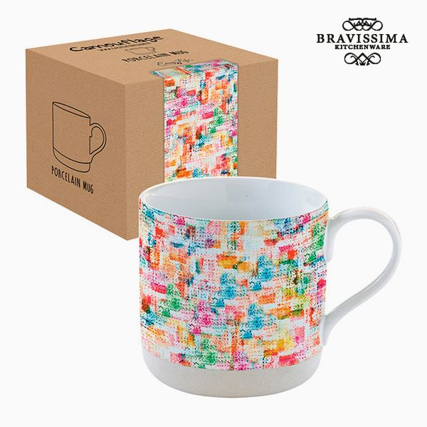 Cup with Box Porcelain Multicolour by Bravissima Kitchen