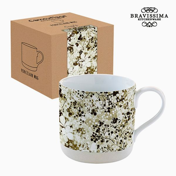 Cup with Box Porcelain Camouflage Sheets by Bravissima Kitchen
