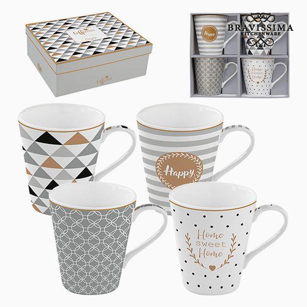 Set of Mugs Porcelain (4 pcs) by Bravissima Kitchen