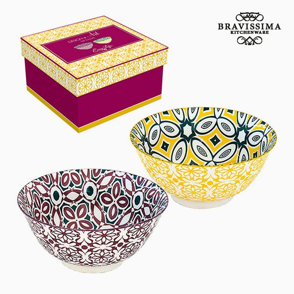 Set of bowls Porcelain (2 pcs) by Bravissima Kitchen