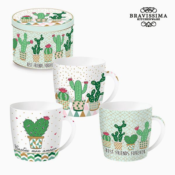 Cup with Box Porcelain Cactus by Bravissima Kitchen