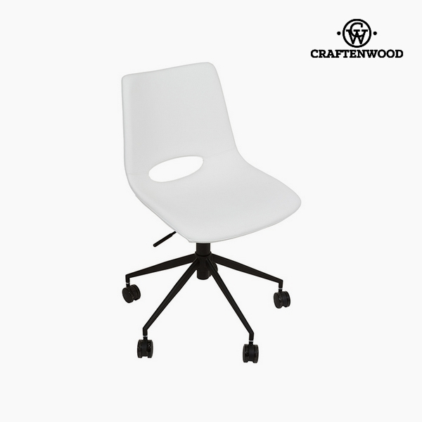 Chair White Polyskin (63 x 63 x 80 cm) by Craftenwood