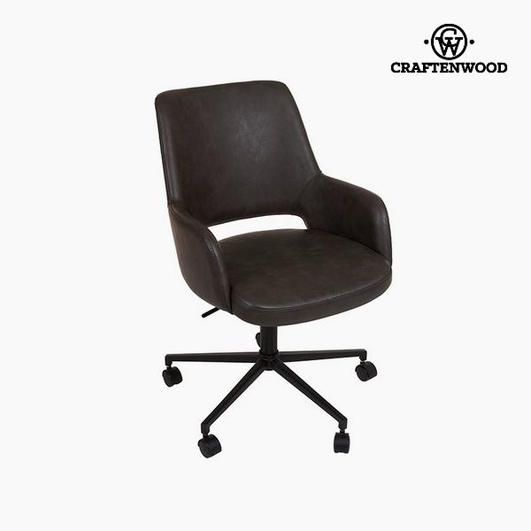 Chair Dark grey Polyskin (62 x 62 x 90cm) by Craftenwood