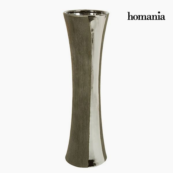 Vase Ceramic Silver Black - Serious Line Collection by Homania
