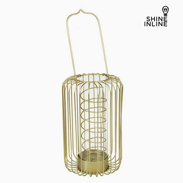Lantern Ironwork Candleholder Crystal - Art & Metal Collection by Shine Inline