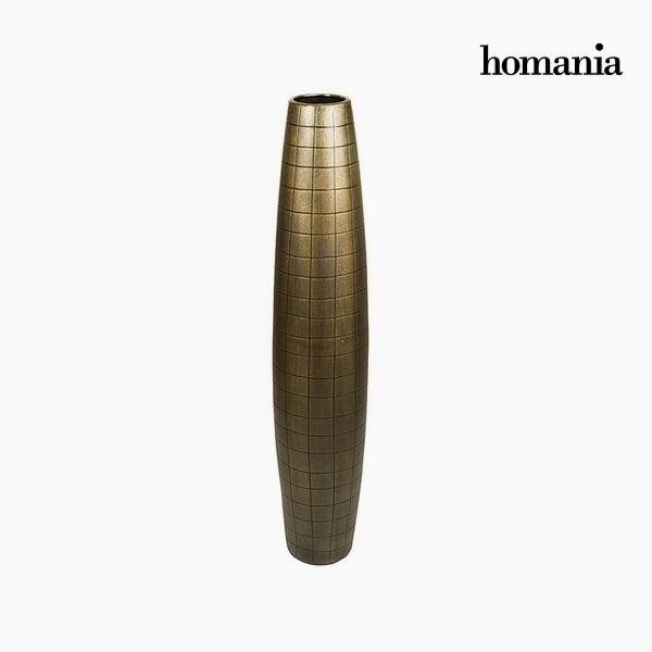 Floor vase Ceramic Gold (19 x 19 x 100 cm) by Homania