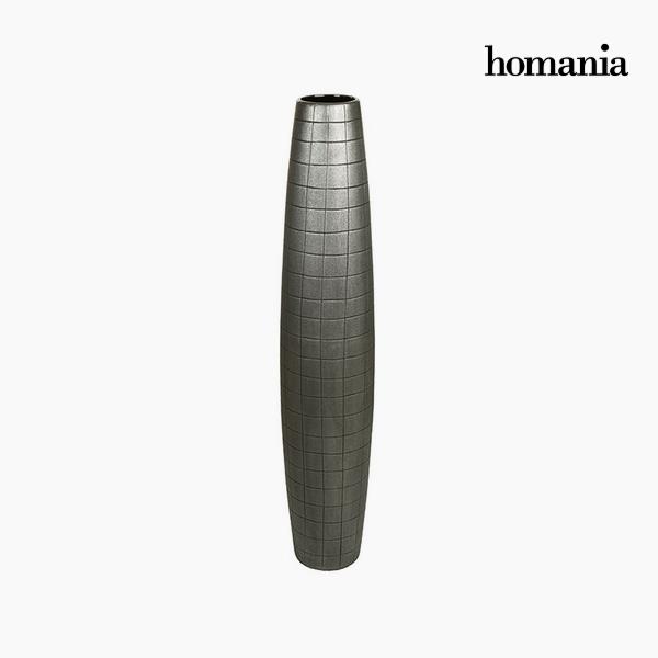 Floor vase Ceramic Silver (19 x 19 x 100 cm) by Homania