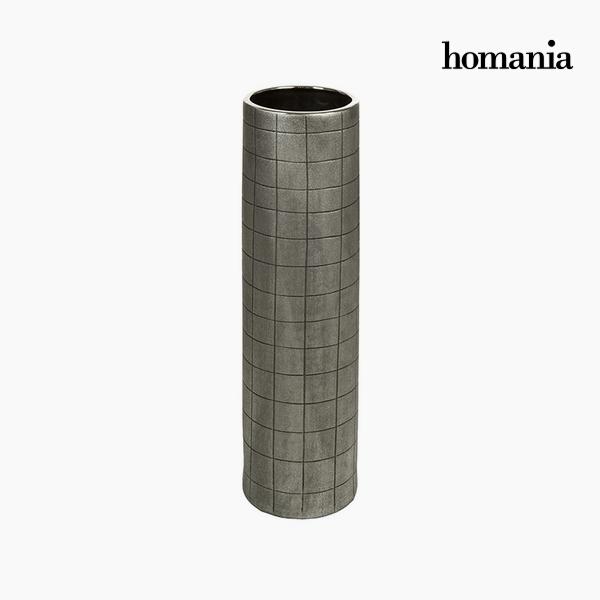 Vase Ceramic Silver (16 x 16 x 59 cm) by Homania
