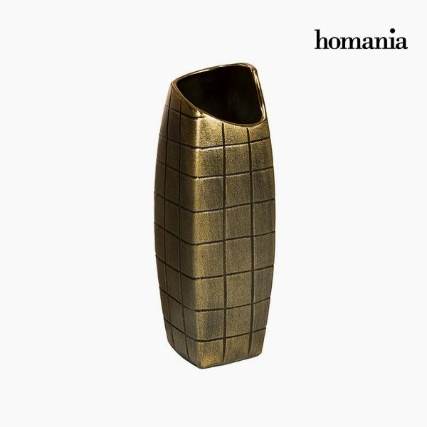 Vase Ceramic Gold (11 x 11 x 33 cm) by Homania