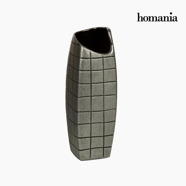 Vase Ceramic Silver (11 x 11 x 33 cm) by Homania