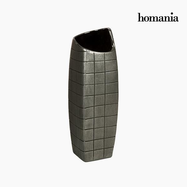 Vase Ceramic Silver (13 x 13 x 41 cm) by Homania