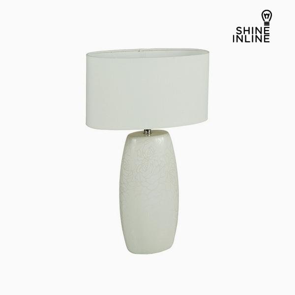 Desk Lamp White Ceramic (14 x 9 x 26 cm) by Shine Inline