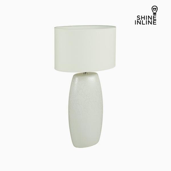 Desk Lamp White Ceramic (16 x 11 x 31 cm) by Shine Inline