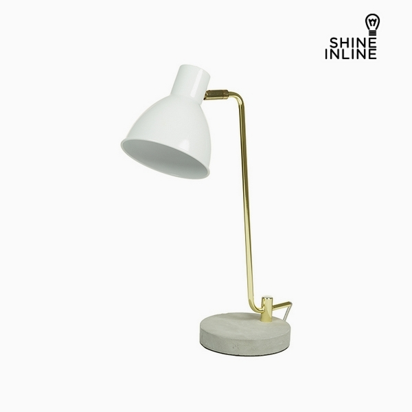 Desk Lamp White Aluminium Cement (30 x 15 x 46 cm) by Shine Inline