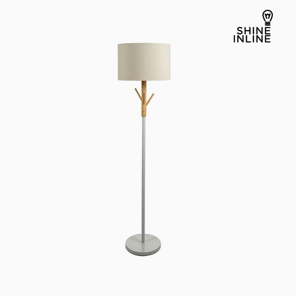 Floor Lamp Beech wood Aluminium (38 x 38 x 160 cm) by Shine Inline