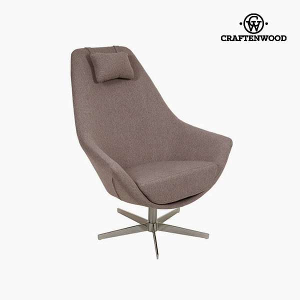 Armchair Grey Polyester (81 x 89 x 102 cm) by Craftenwood