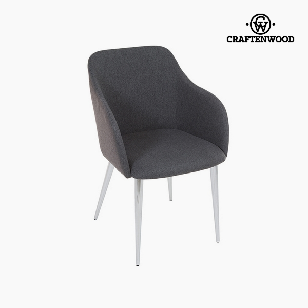 Chair Grey Polyester Filling (57 x 52 x 83 cm) by Craftenwood