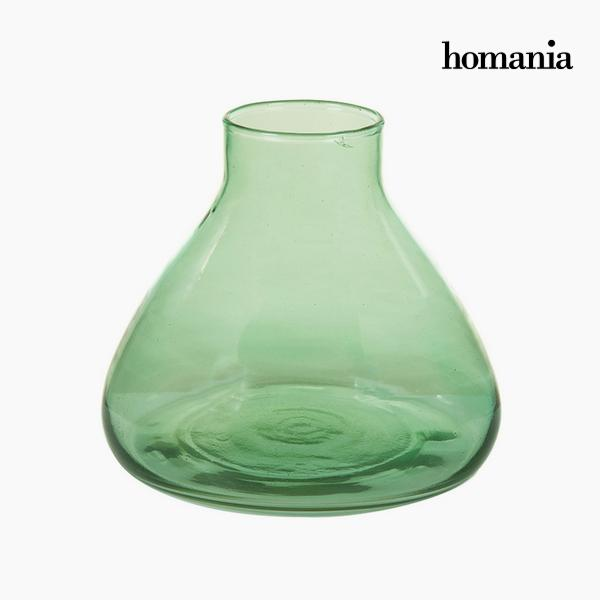 Vase made from recycled glass Green - Crystal Colours Deco Collection by Homania