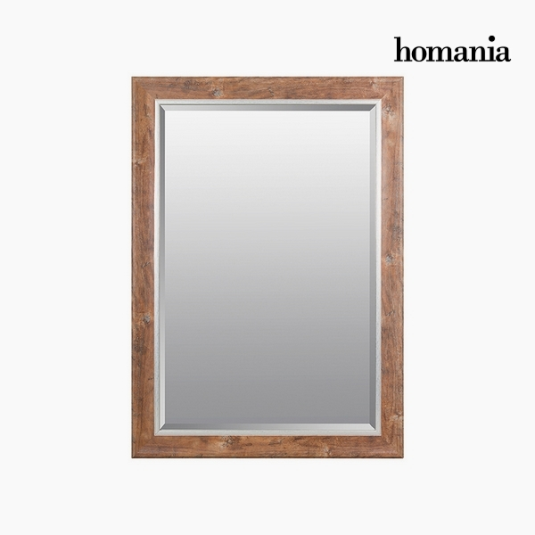 Mirror Synthetic resin Bevelled glass Wood (76 x 2,5 x 106 cm) by Homania