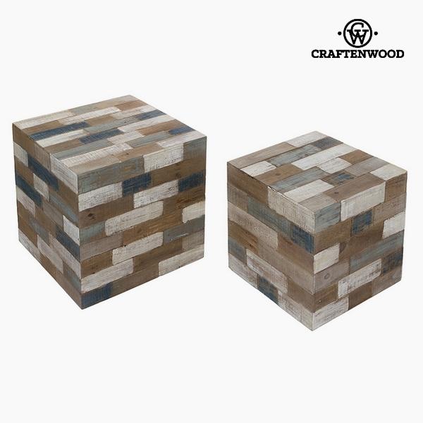 Stool (2 pcs) Pine Dm (48 x 48 x 48 cm) by Craftenwood