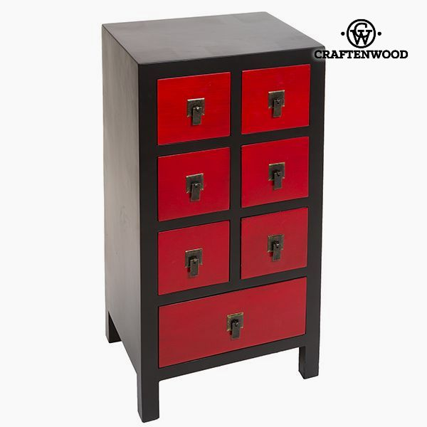 Hall Mdf Black Red (44 x 35 x 86 cm) - Modern Collection by Craftenwood