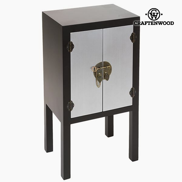 Nightstand Mdf Black Grey (44 x 32 x 80 cm) - Modern Collection by Craftenwood