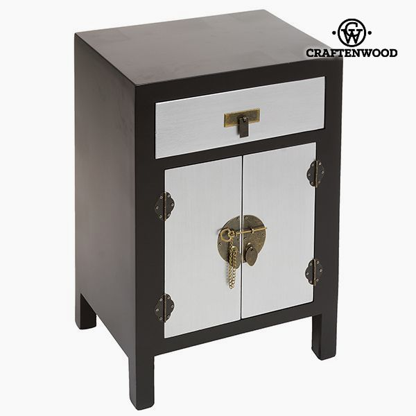 Nightstand Mdf Black Grey (45 x 35 x 66 cm) - Modern Collection by Craftenwood