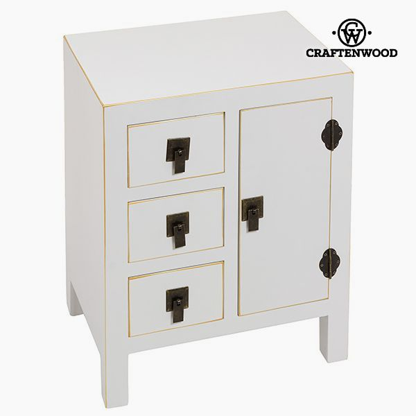 Nightstand Mdf White (45 x 32 x 55 cm) - Modern Collection by Craftenwood