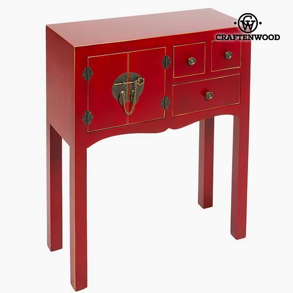 Hall Mdf Red (63 x 26 x 82 cm) - Modern Collection by Craftenwood