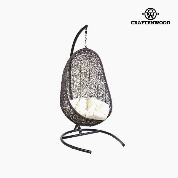 Basket seat with cushion (Ø 100 cm) Black