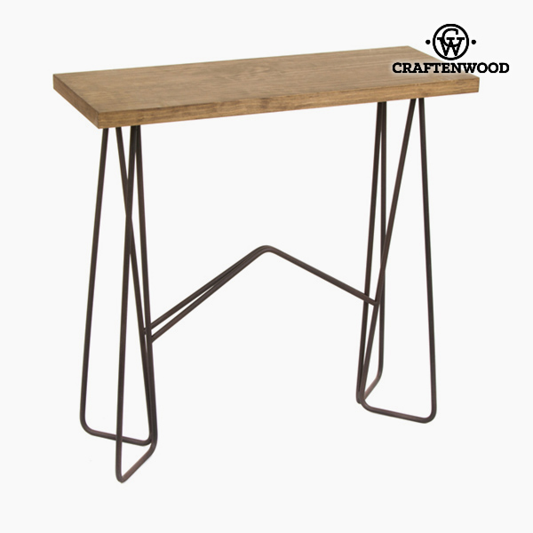 Hall (80 x 30 x 80 cm) Ironwork Wood Black Natural - Thunder Collection by Craftenwood