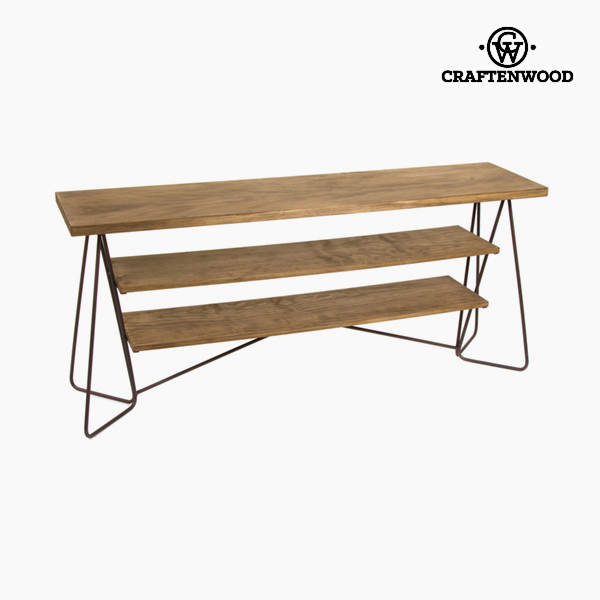 Sideboard (160 x 40 x 70 cm) Fir Ironwork Black - Thunder Collection by Craftenwood