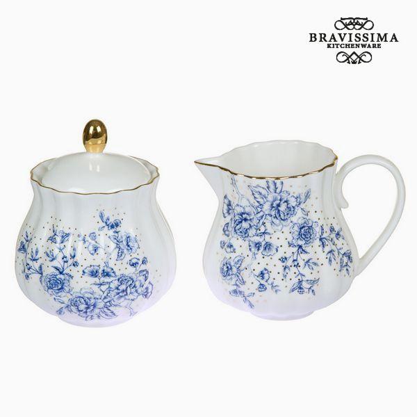 Milk jug and sugar bowl Flowers White - Kitchen's Deco Collection by Bravissima Kitchen