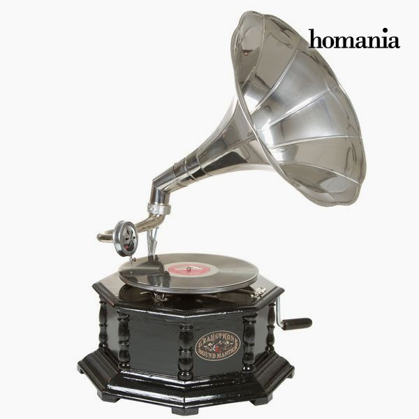 gramophone Octagonal Black Silver - Old Style Collection by Homania