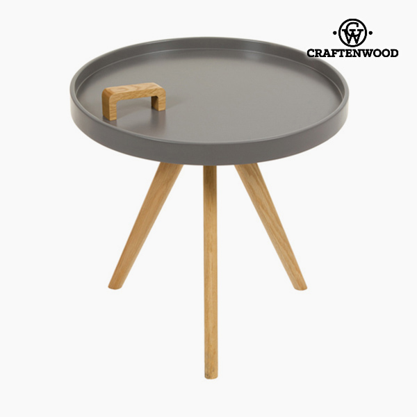 Side Table Mdf Wood Circular Grey - Be Yourself Collection by Craftenwood