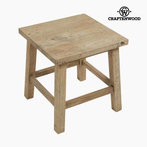 Side Table Rubber wood Squared - Natural Collection by Craftenwood