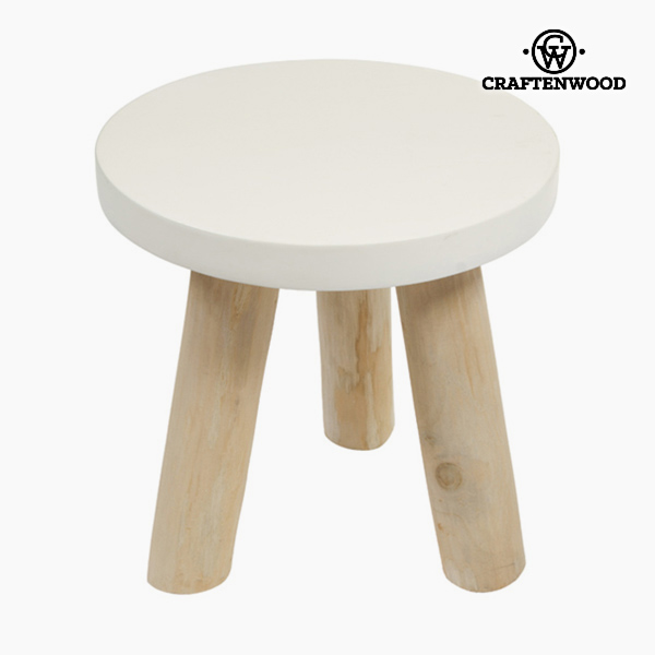 Side Table Wood Circular - Natural Collection by Craftenwood