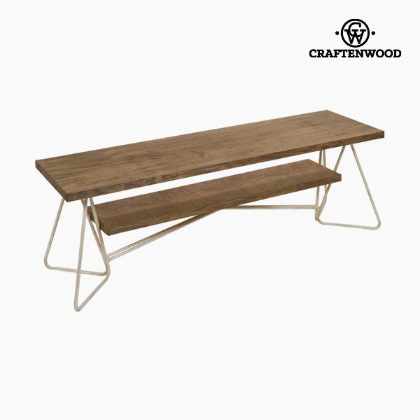 TV Table Wood Ironwork White - Thunder Collection by Craftenwood
