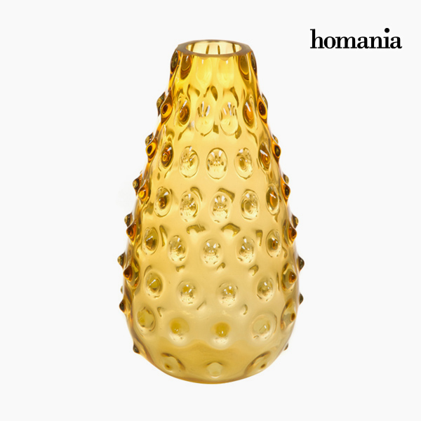 Vase Glass Amber - Crystal Colours Deco Collection by Homania